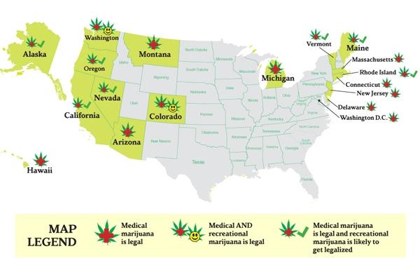 mapaestadoscannabiscosusa