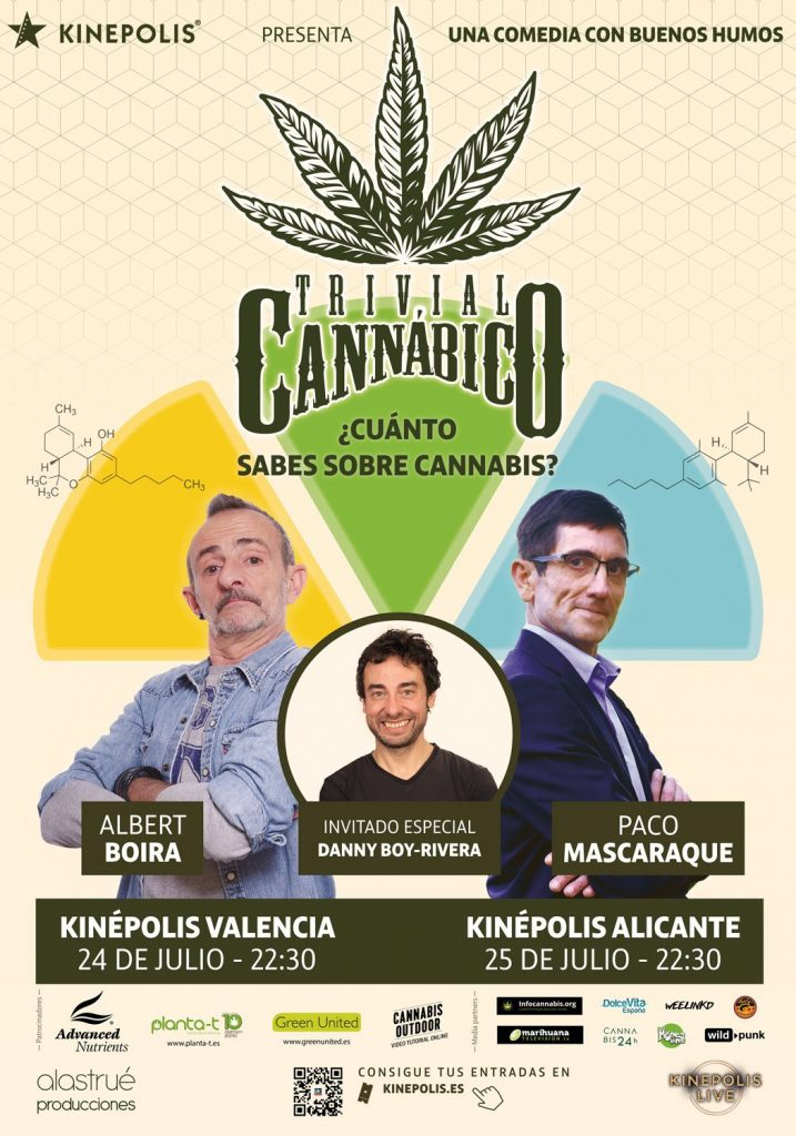 Trivial Cannabico un espectáculo con Paco Mascaraque y Albert Boira.